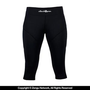 Clinch Gear Women's Black Capri Spats